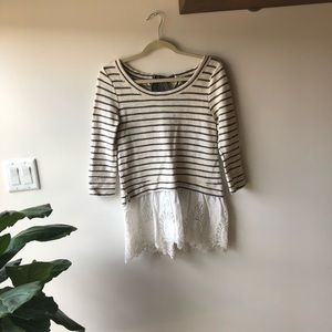 Striped Anthropologie tunic